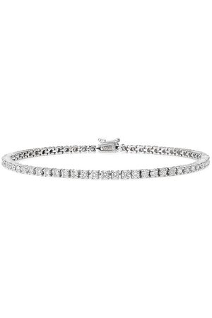 777 18kt white gold diamond tennis bracelet