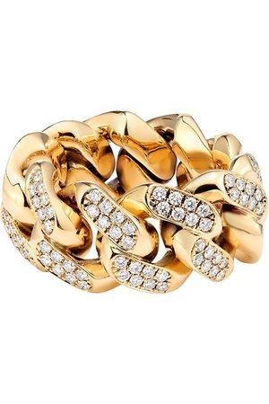 777 Yellow gold diamond Cuban ring