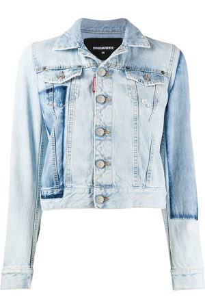 Dsquared2 Patch cropped denim jacket