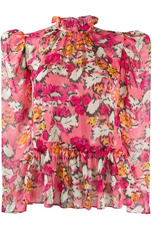 SALONI Floral-print blouse