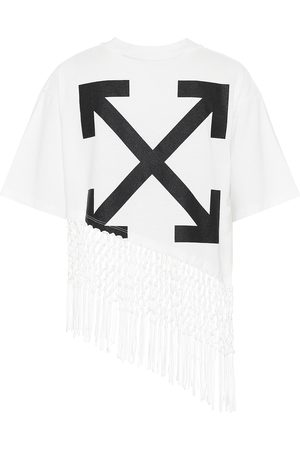 OFF-WHITE Women T-shirts - Printed cotton-jersey T-shirt