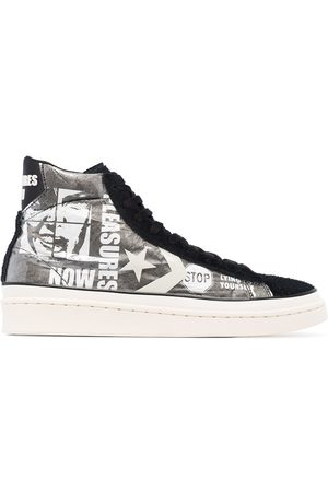 Converse X Pleasures Pro leather high top sneakers