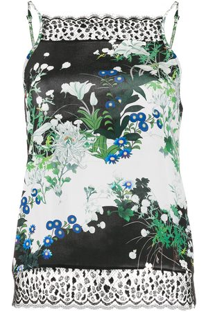 Givenchy Floral-print lace detail top