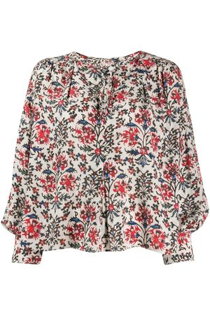 Isabel Marant Abstract floral-print blouse