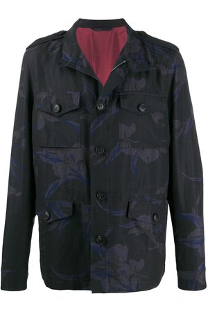 Etro Concealed zipped floral print coat