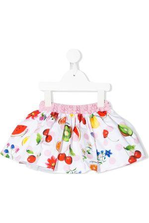 MONNALISA Girls Printed Skirts - Fruit print full skirt