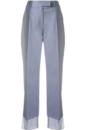GOEN.J Chiffon trimmed suit trousers