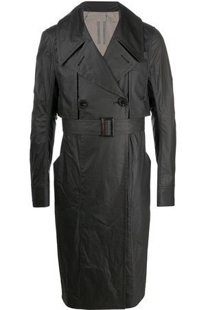 Rick Owens Men Trench Coats - Double breasted trench coat
