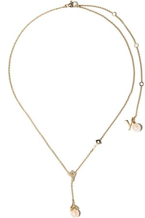 Yoko London Women Necklaces - 18kt yellow gold Trend freshwater pearl and diamond necklace