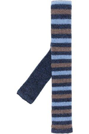 N.PEAL Stripe knitted tie
