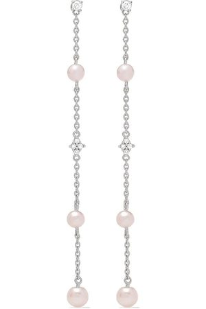 Yoko London 18kt white gold Trend Freshwater pearl and diamond earrings