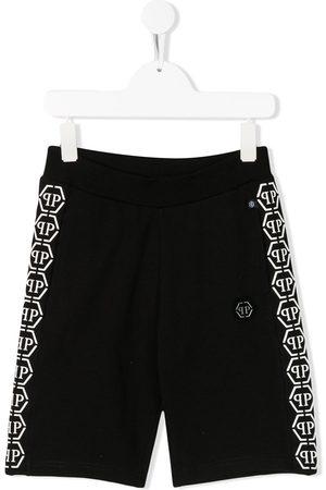 Philipp Plein Logo tape track shorts