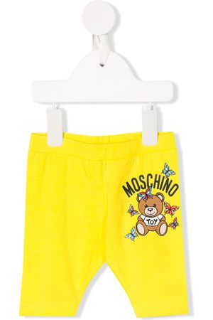 Moschino Girls Skinny Pants - Logo slim-fit trousers