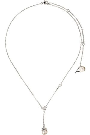 Yoko London 18kt white gold Trend freshwater pearl and diamond necklace
