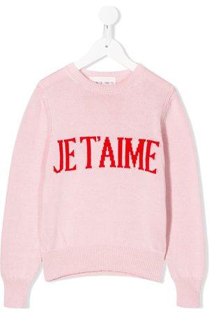 Alberta Ferretti Slogan embroidered jumper