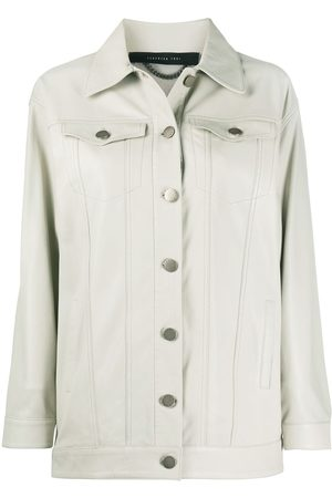 FEDERICA TOSI Buttoned leather jacket