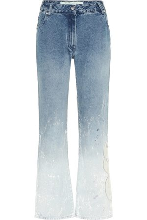 OFF-WHITE Mid-rise straight ombré jeans