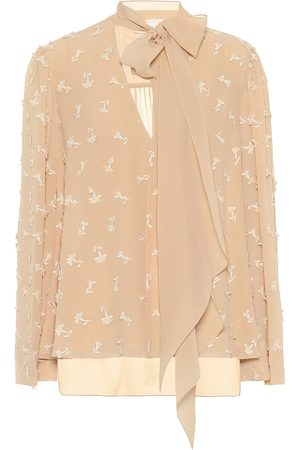 Chloé Women Blouses - Embroidered silk blouse