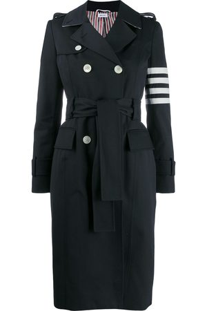 Thom Browne Women Trench Coats - 4-bar classic trench