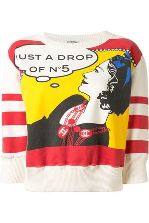 CHANEL Cropped comic jumper