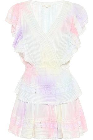 LOVESHACKFANCY Gwen tie-dyed cotton minidress