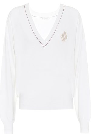 Chloé V-neck wool-blend sweater