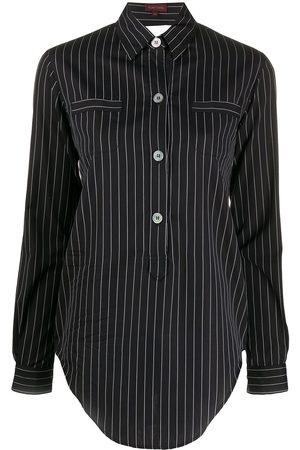 ROMEO GIGLI 1990s cut-off detail striped shirt