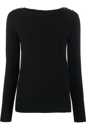 Twin-Set Crystal-button jumper