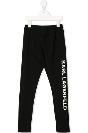 Karl Lagerfeld Logo printed track pants