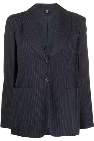 ROMEO GIGLI 1990s single-breasted pinstripe blazer