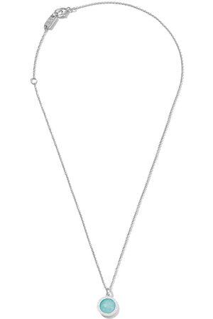 Ippolita Sterling silver Lollipop turquoise and diamond mini pendant necklace