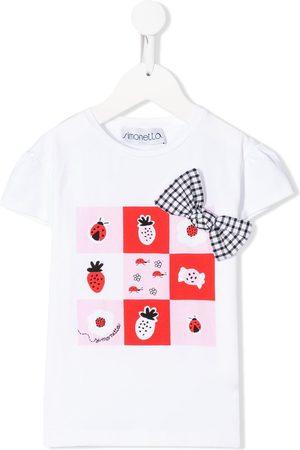 Simonetta Geometric-print regular-fit T-shirt