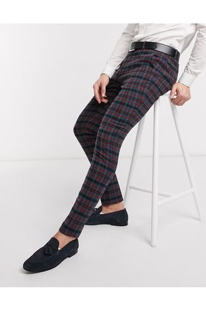 ASOS Super skinny smart trousers in wool mix check