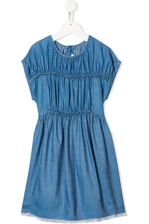 Chloé Denim tiered dress