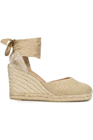 Castaner Carina lace-up wedge espadrilles