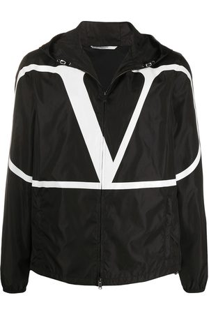 VALENTINO VLOGO print hooded jacket
