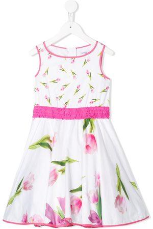 MONNALISA Floral print ruffled waist dress