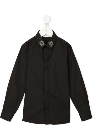 Dolce & Gabbana Crown-appliqué long-sleeved shirt