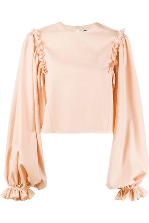 MAISON RABIH KAYROUZ Ruffle-trimmed cropped blouse