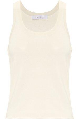RYAN ROCHE Stretch-knit tank top