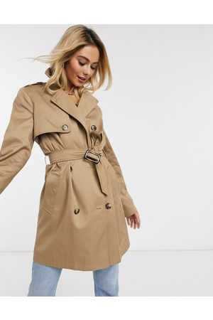 ASOS Trench coat in stone-Neutral