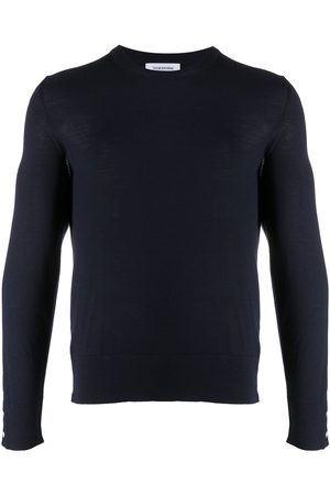 Thom Browne 4-Bar back stripe jumper