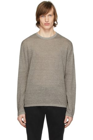 Z Zegna Brown Linen Long Sleeve T-Shirt