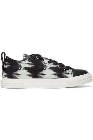 Giuseppe Zanotti Black and Off-White Blabber Sneakers