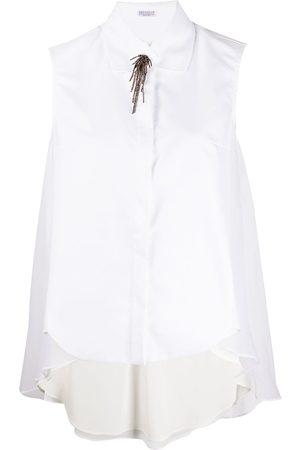 Brunello Cucinelli Women Tank Tops - Sleeveless blouse