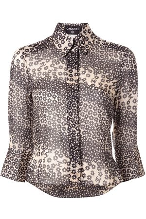 CHANEL 2003 floral cropped shirt