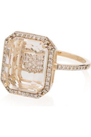 Mateo 14kt yellow heart framed diamond ring