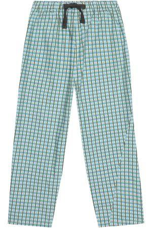 Caramel Chelsea checked cotton pants