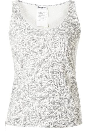 CHANEL Women Tank Tops - 1999 address print tank
