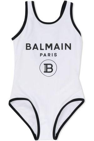 Balmain Logo print swim suit